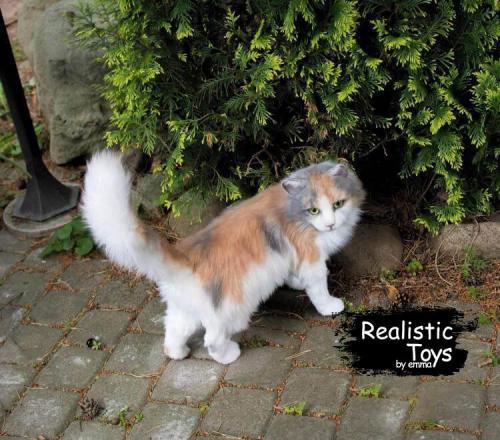 Emma Realistic Toys - Realistic & Lifelike Calico Cat Oreo