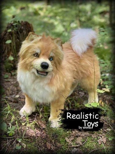 Emma Realistic Toys - Realistic & Lifelike Husky dog  Fuzzy