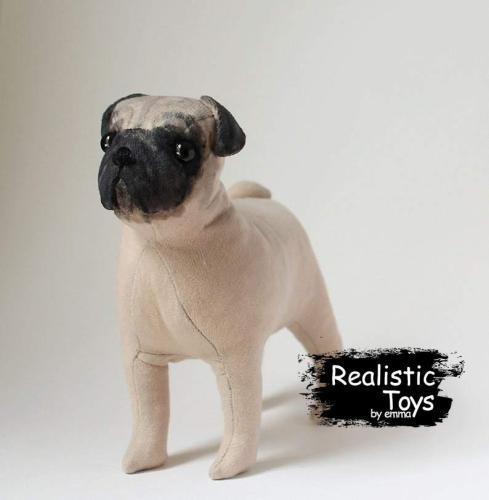 Emma Realistic Toys - Realistic Pug Puppy Cassie