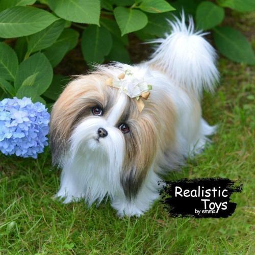 Emma Realistic Toys - Realistic Shih Tzu Puppy Bella