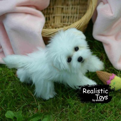Emma Realistic Toys - Realistic & Lifelike Maltese Puppy Betty