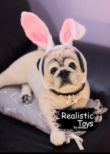 Emma Realistic Toys - Realistic Pug Puppy Scrapper