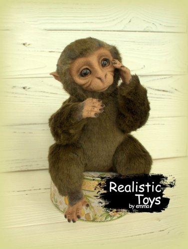 Emma Realistic Toys - Realistic & Lifelike Monkey Mayumi