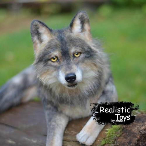 Emma Realistic Toys - Realistic & Lifelike Wolf Tiffany