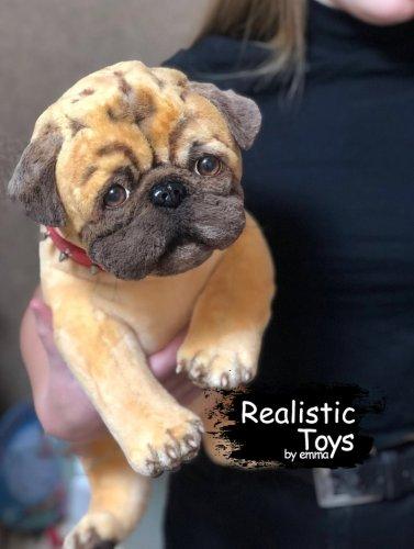 Emma Realistic Toys - Realistic Pug Puppy Brinkley