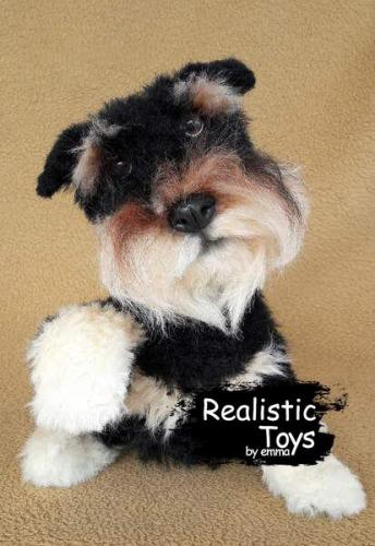 Emma Realistic Toys - Schnauzer Dog Brody
