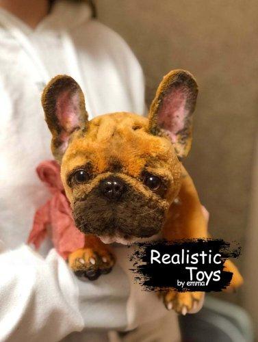 Emma Realistic Toys - Realistic & Lifelike French Bulldog Amber