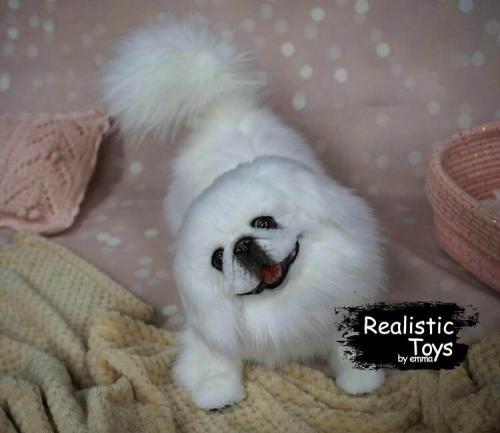 Emma Realistic Toys - Realistic Pekingese Puppy Smokey