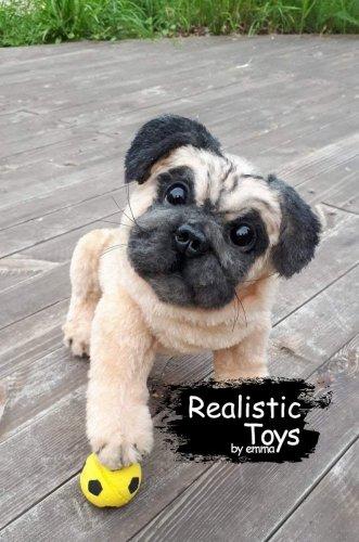 Emma Realistic Toys - Realistic Pug Puppy Bandit