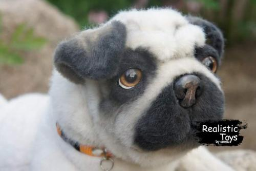 Emma Realistic Toys - Realistic Pug Puppy Bentley