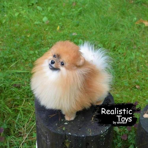 Emma Realistic Toys - Realistic Pomeranian Puppy Harley