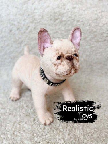 Emma Realistic Toys - Realistic & Lifelike French Bulldog Napkins
