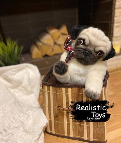 Emma Realistic Toys - Realistic Pug Puppy Zeus