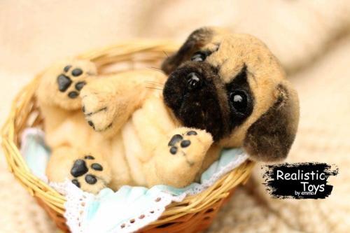 Emma Realistic Toys - Realistic Pug Puppy Clifford