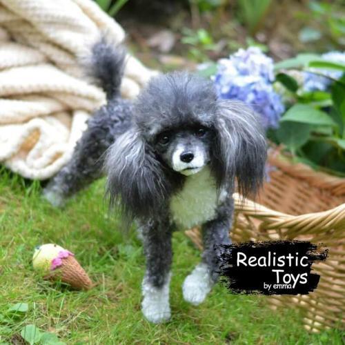 Emma Realistic Toys - Realistic & Lifelike Poodle Dog Lucy