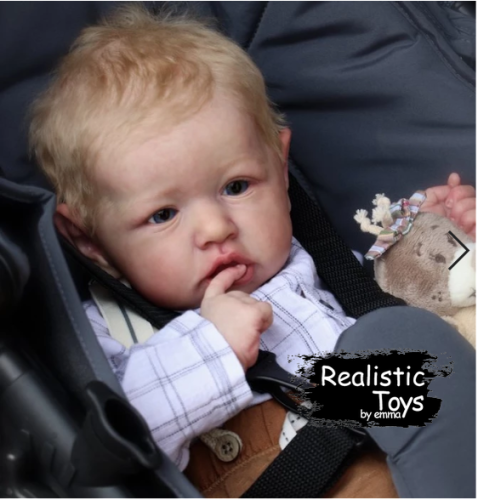 12''Reborn Baby Boy Jad , Realistic Lifelike Handmade Doll Gift