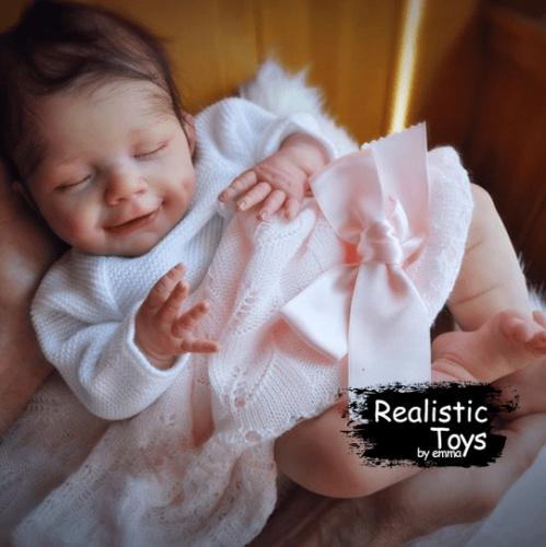 12''Little Sophia Reborn Baby Doll, Realistic Lifelike Toy for Kid Gift