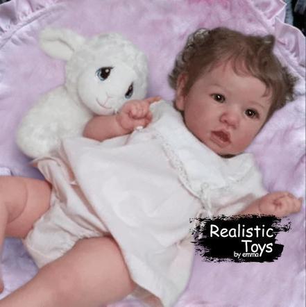 12''Little Caroline Reborn Baby Doll, Soft Silicone Realistic Looking Newborn Vinyl Dolls