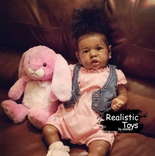 12''Little Kisa Reborn Baby Doll Girl, Lifelike Soft Vinyl Doll, Children Gifts