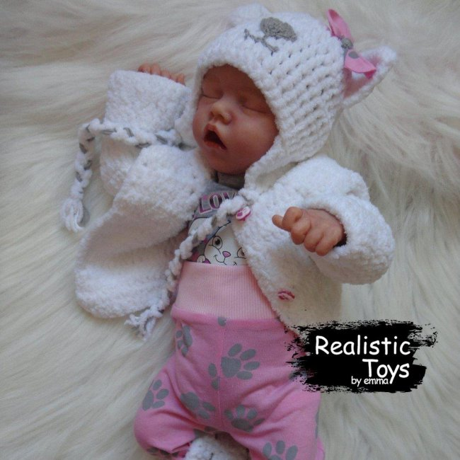 12''SoftTouch Real Lifelike Paris Reborn Baby Doll Girl