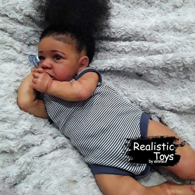 12''Little Diana Reborn Baby Doll Girl, Lifelike Soft Vinyl Doll, Children Gifts