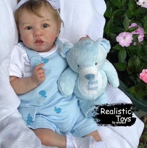 12''Realistic Lifelike Reborn Baby Girl Ballas, Handmade Doll Gift