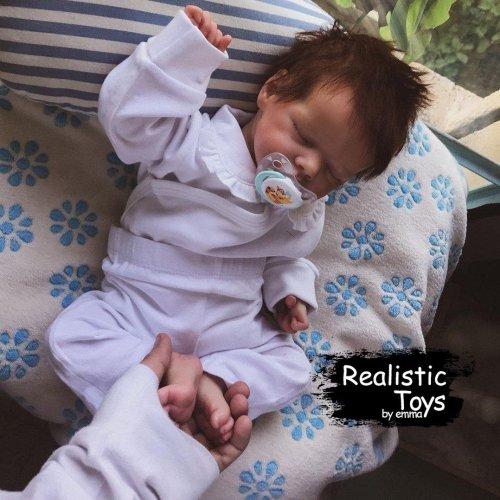 12''Lifelike Cute Monette Reborn Baby Doll Girl
