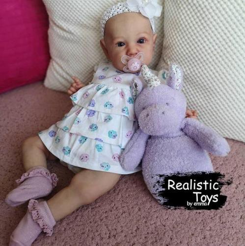 12'' Reborn Baby Girl Bruce, Realistic Lifelike Handmade Doll Gift
