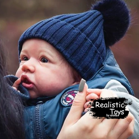 12'' Realistic Handsome Reborn Baby Boy Doll Gene