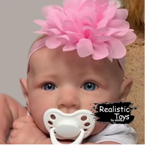 12''Little Adele With No Hair And Blue Eyes , Lifelike Real Baby Doll Reborn