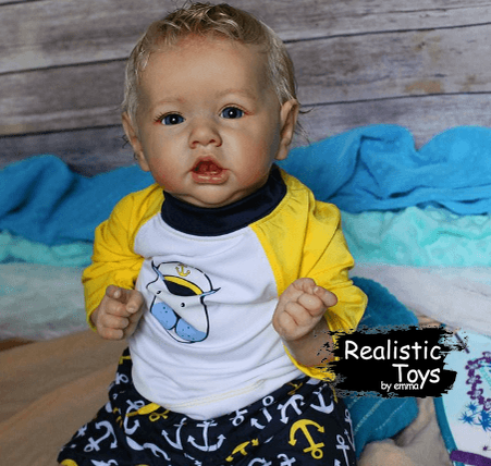 12''Realistic Handsome Reborn Baby Boy Doll James