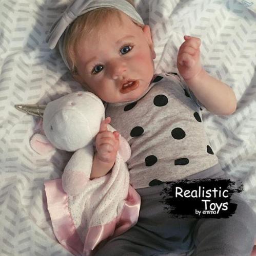 12''Reborn Baby Girl Angela , Realistic Lifelike Handmade Doll Gift
