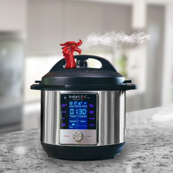 Yolococa Steam Release Accessory for Instant Pot Pressure Cooker - All Size of Duo/Smart/Ultra Model, Red Dragon House Again Cupboards/Cabinets Savior