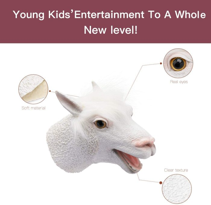 Yolococa Hand Puppet Toys Realistic Latex Animal Shark Instagram Children Toys (Alpaca)