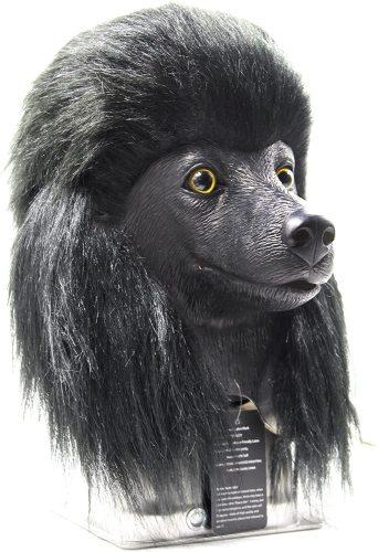 Dog Mask Poodle Head Face Costume Novelty Halloween Party Dressing Up Masks for Adults and Kids (Black Poodle)