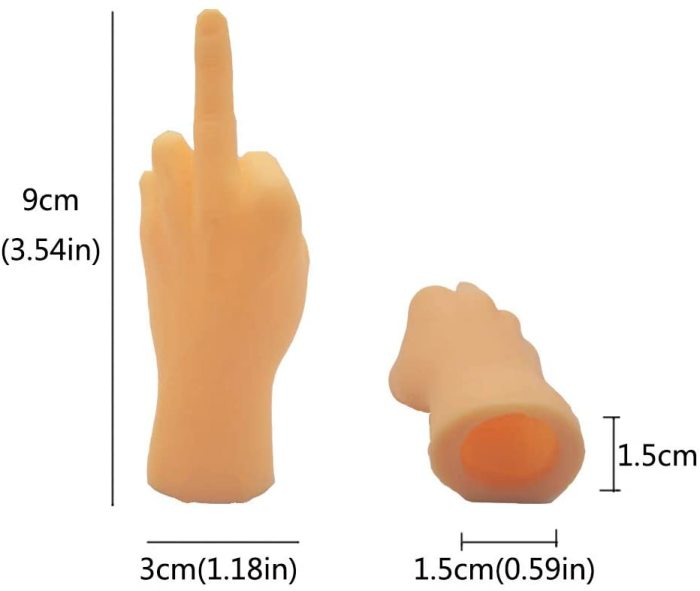 Yolococa 10 Pieces Finger Puppet Mini Finger Hands Tiny Hands with Left Hands and Right Hands for Game Party,Gesture Mid Finger…