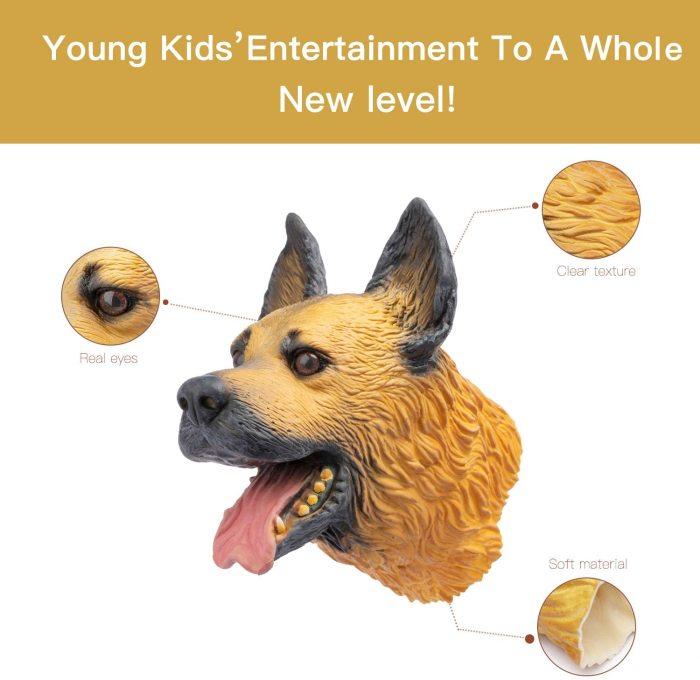 Yolococa Hand Puppet Toys Realistic Latex Animal German Shepherd Children Toys (German Shepherd)