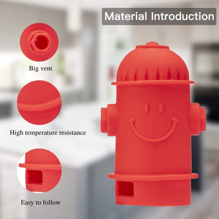 Yolococa Steam Release Angry Boss Diverter For Instant pot Cupboards/Cabinets protector 360° Redirect Silicone Kitchen Accessory (Angry Boss) (Fire Hydrant)