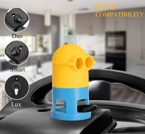 Yolococa Steam Release Angry Boss Diverter For Instant pot Cupboards/Cabinets protector 360° Redirect Silicone Kitchen Accessory (Angry Boss) (Yellow)