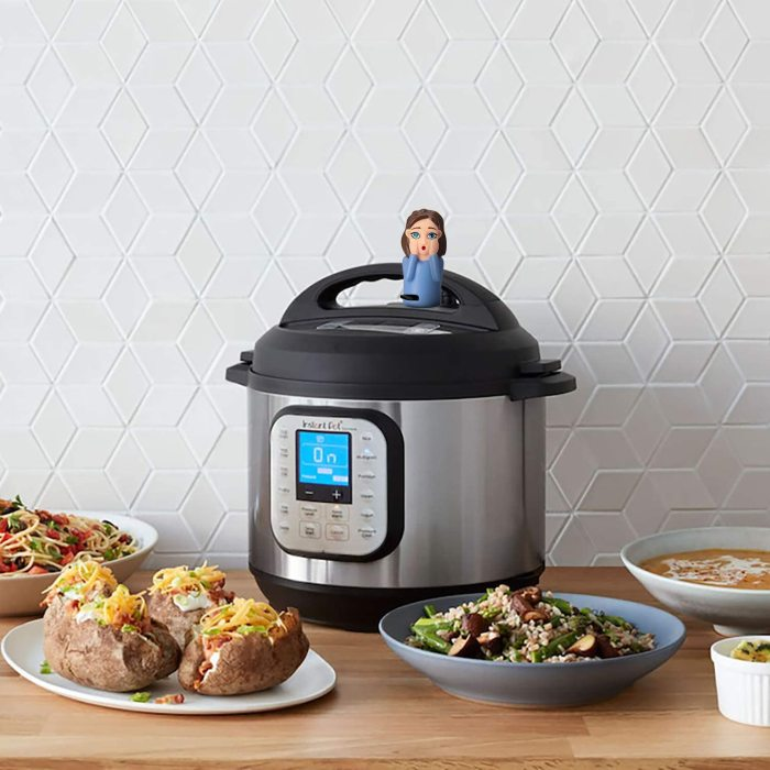 Yolococa Compatible with Instant Pot Accessories 6 qt 8 qt   Steam Release Diverter   Does Not Fit Lux Model or Costco SV Model   Redirect Steam on InstaPot Away From Cabinets   Fits Duo Only