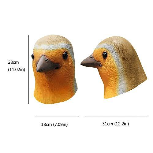 PartyHop - Robin Bird Mask - Latex Halloween Party Cosplay Costume for Kids and Adult Orange