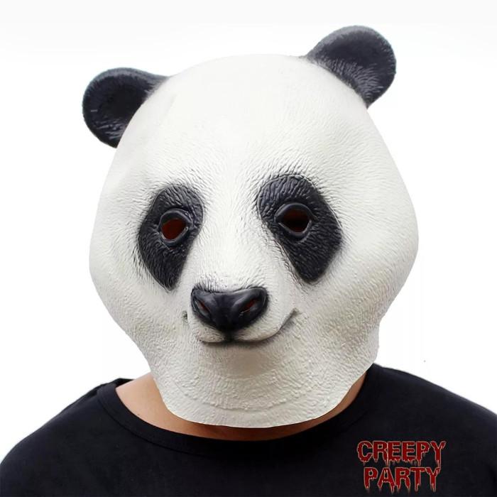 Panda Mask Animal Head Giant Panda Face Masks Novelty Halloween Costume Party Latex Animal Head Mask Panda