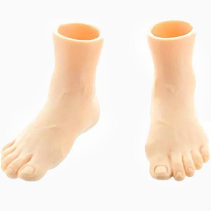 Yolococa Set of 2 Rubber Finger Feet Mini Puppets Left & Right