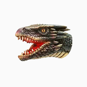 Yolococa Dragon Hand Puppet Toys,Soft Rubber Realistic Dragon Head,1 PCS
