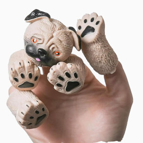 Ipearl Ipearl Pug Finger Hand Puppet Novelty Toys Finger Doll Props Animal Finger Puppet