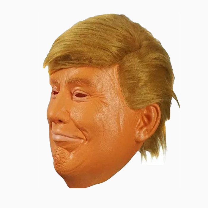 AQKILO President Donald Trump Mask for Halloween Cosplay Eye-Catching Head Mask White