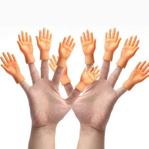Yolococa 10 Pieces Finger Puppet Mini Finger Hands Tiny Hands with Left Hands and Right Hands for Game Party (Five Hand)