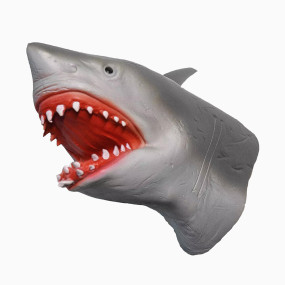Yolococa Hand Puppet Toys Realistic Latex Animal Shark Instagram Children Toys (Shark)