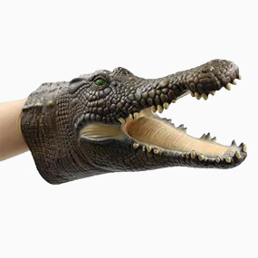 Yolococa Crocodile Puppet Hand Puppet Toys Realistic Latex Animal Crocodile Children Toys Gift for Kid