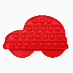 Pop That Fidget Toy Push Pop Bubble Squeeze Sensory Fidget Toy Pop Them All Game for Kids Adult Red Car